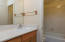 tub/shower combo, door to close off from vanity.