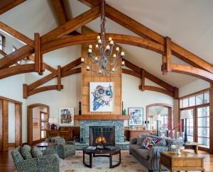 These beautiful beams spanning the greatroom are just one detail that will not escape your eye