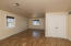 Large living room, big coat closet