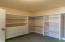 Large Master bedroom Closet with Built ins