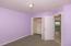 The lavender bedroom. Custom closet.