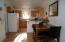 Light, open kitchen for easy entertaining!
