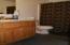 Slate tile floors and alder cabinets!