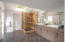 Large Master Bath with double sinks, steam shower, two closets