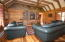 Living room in guest cabin