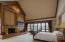 Master Bedroom with Wood Burning Fireplace and Gorgeous Boulder Mountain Views