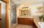 Custom tiled master bathroom