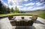 Flagstone patio with 180 degree views