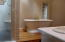 Separate shower stall and a elegant soaking tub