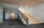 Modern staircase. Incredible architectural details throughout this home!