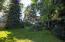 Mature landscaping, sprinklers