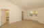 Master offers high ceilings, nice light, wood shutters, large walk-in closet