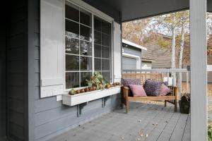 Welcoming Front Porch & New Front Door