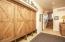 Mudroom with extra storage & coat closet