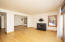 Living / Dining Area / gas fireplace
