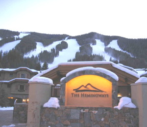 The Hemingways, base of Baldy