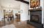 Open Living Room w/ High Ceilings
