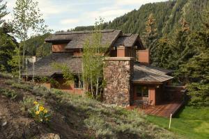 Sun Valley Home Nestled into the hillside.