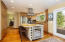 Custom cabinetry with built-in wine cooler.