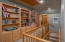 Custom built-in bookshelves in upstairs hallway