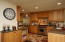 Completely remodeled kitchen with high end appliances and knotty alder cabinets