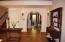 Arched opening to living area