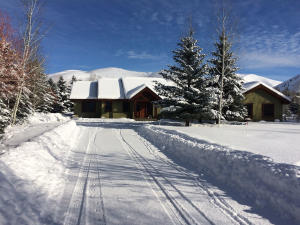 Front of home winter