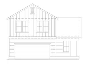3 bedroom 2.5 bath home with 2-car garage Plan 1