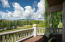 Spectacular views of Baldy from deck off 2nd floor master bedroom.