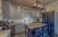 Kitchen w/movable Island.