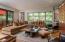Living area designed for conversation