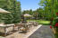 Three separate outdoor stone patios, ideal for entertaining