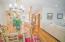 9' ceilings enhance the spacious living area