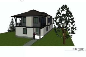 Front perspective - beautiful modern design by renown architect Eddy Svidgal.