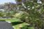 Landscaping and aromatic trees with a partially fenced in yard!