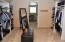 HUGE master closet with an adjoining space for a yoga/art studio, office, or more closet!