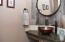 Main floor powder room, with flair and style!
