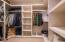 Primary suite custom closet