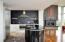 Kitchen island perfectly placed for cooking and entertaining
