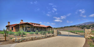 Gated entry to hacienda's private drive