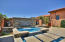 Courtyard spa and waterfall feature