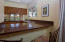 Granite counters and open kitchen