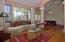 Open floor plan with vaulted ceilings.