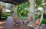 Patio dining near the kitchen and family rooms