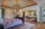 Master Bedroom Suite with Sitting Room & a Private Master Loggia with Fireplace