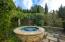 Bubbling Spa Outside the Pool House