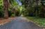 Long, private driveway