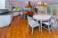 Dining area and kitchen/island view