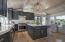 Kitchen w/Custom Chandelier