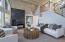 Living Room w/Metal Fireplace